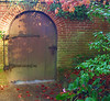 Gate at FILOLI mansion, Woodside, California